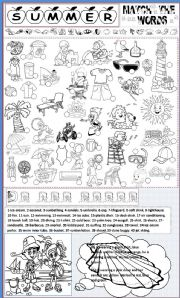 English Worksheet: summer vocabulary