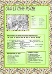 English Worksheet: OUR LIVING ROOM
