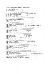 English Worksheets: tag qoest�ons