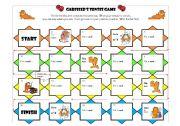 English Worksheet: Garfield�s tenses game