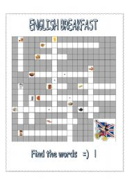 ENGLISH BREAKFAST - crossword