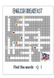ENGLISH BREAKFAST - crossword