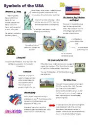 English Worksheet: Symbols of the USA