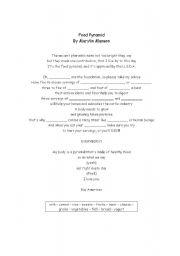English Worksheet: Food Pyramid (song)
