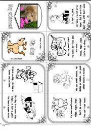 English Worksheet: Phonics Mini Book 5: Magic E with O: My Dog