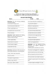 English worksheet: Present perfect simple negative statments and yes no questions