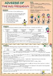 English Worksheet: Adverbs of time and frequency