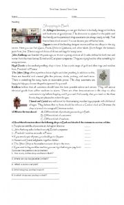 English Worksheets: markets in Bath
