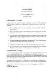 English Worksheets: 9/11 The Falling Man
