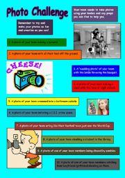 English Worksheets: Photo Challenge