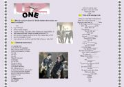 English Worksheets: U2 �one�