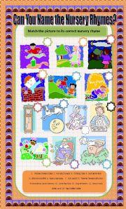 English worksheet: Identify the Nursery Rhyme