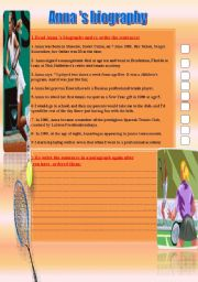 English Worksheets: Anna�s biograpghy