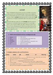 English Worksheets: mozart