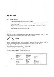 English Worksheets: Describing Trends