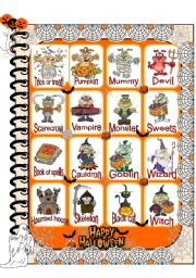 English Worksheets: Halloween pictionary