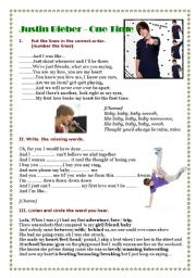 English Worksheets: Justin Bieber - Baby - Listening