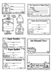 English Worksheets: Nice rewards
