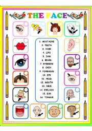 English Worksheets: THE FACE MATCHING 1
