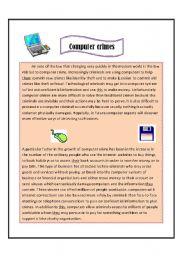 English worksheet: Computer crimes