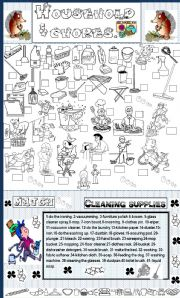 English Worksheets: household chores