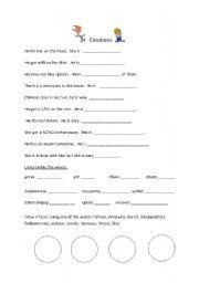 Worksheets Identifying Emotions Worksheet identifying feelings worksheet intrepidpath english teaching worksheets emotions