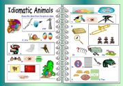 English Worksheets: Idiomatic Animals