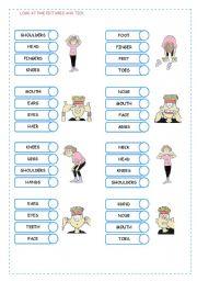 English Worksheet: BODY 2