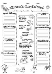 English Worksheets: Categories