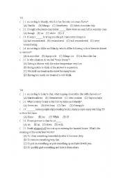 English Worksheets: test11