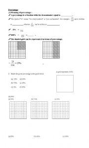 English Worksheets: percentage