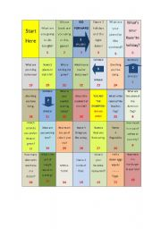 English Worksheets: Dice GAME! Use it to teach Basic ConversatioN! - Great