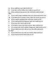 English Worksheets: Choose the card and try your luck