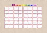 English worksheet: DOMINOES template