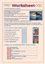 English Worksheets: Michael Phelps