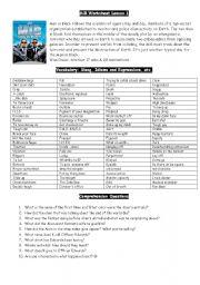 English Worksheet: Men in Black