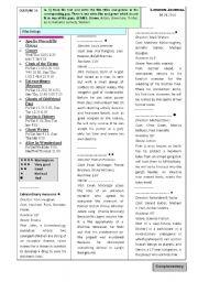 English Worksheets: Movie listings