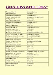 English Worksheets: Questions with