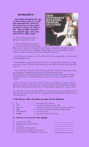 English worksheet: Elvis lives !