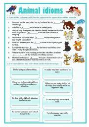 English Worksheet: idioms 7 - animals