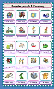 English Worksheets: Describing words: