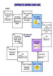 English worksheet: Comparative adverb board game (31.07.2010)