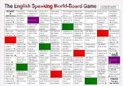 English Worksheets: Board Game about the english speaking world