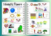English Worksheet: Idiomatic Flowers