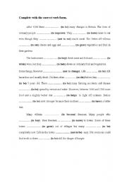 English Worksheets: Complete with the correct form in the past- Rewrite the sentences without changing the meaning.