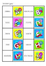 ALPHABET - domino game (set 2/3)