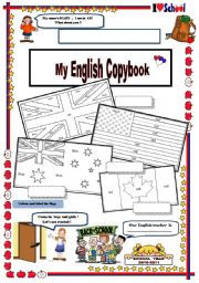 copybook cover with TASKS