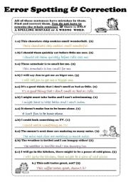 Printables Correcting Grammar Worksheets printables correct grammar worksheets safarmediapps english teaching error correction test word order spelling general review