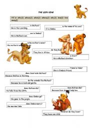 Question words with the Lion King