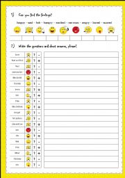English Worksheets: Are you bored? - No, I�m not.  Is she hungry? - Yes, she is.
